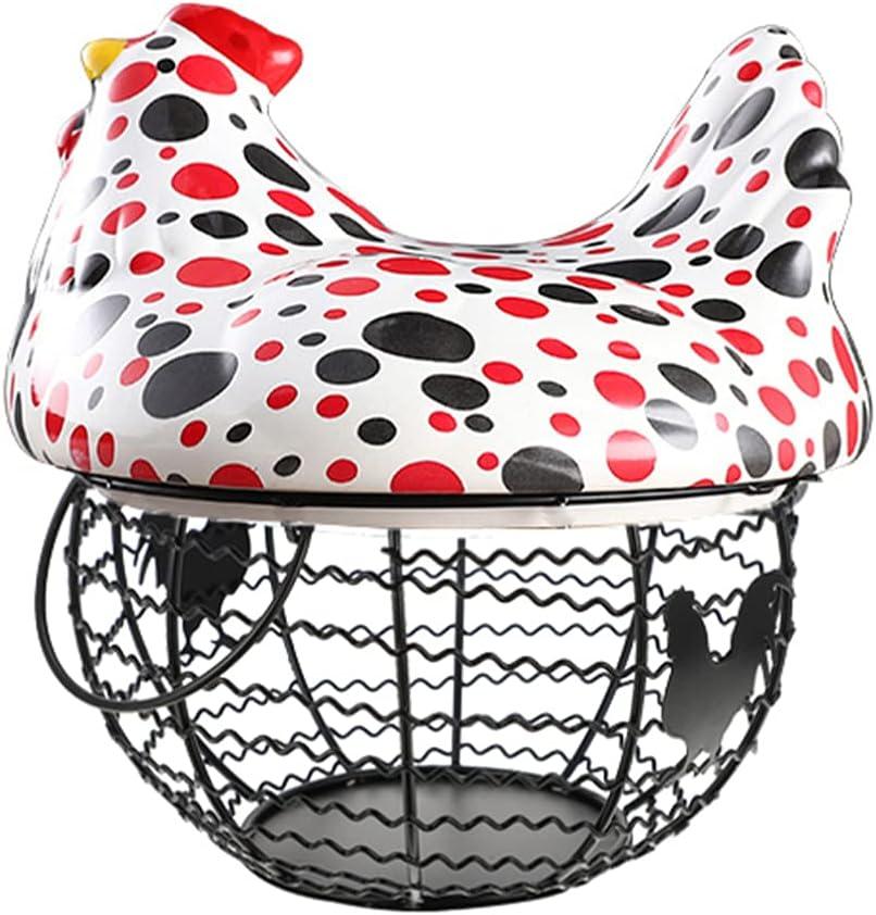 HEMOTON Egg Holder New Fresno Mall Shipping Free Basket Chicken Hen Shaped Vintage Storage