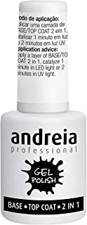 Andreia Professional Gel Polish Base y Top Coat Capa Superior 2 en 1-10.5 ml