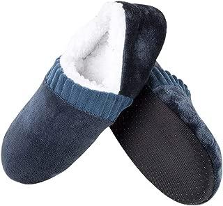 NuTip Men Soft Slippers House Floor Socks Anti-Slip Indoor Winter Warm Slipper