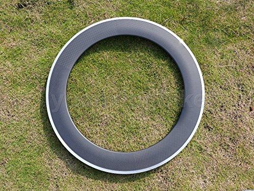 Toray Carbon cerchioni carbonio UD opaca Road Bike Clincher Wheel Rim lato freno in lega 80mm Larghezza 20,4mm/fori: 24, 24
