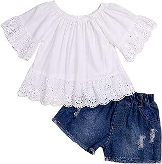 Lankey - Conjunto de Ropa para niña pequeña, Pantalones Cortos de algodón, Casual, 2 Piezas