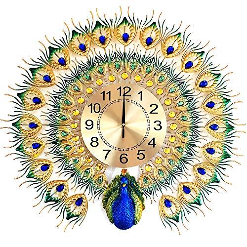 Orologio da parete Magicpro pavone grande formato