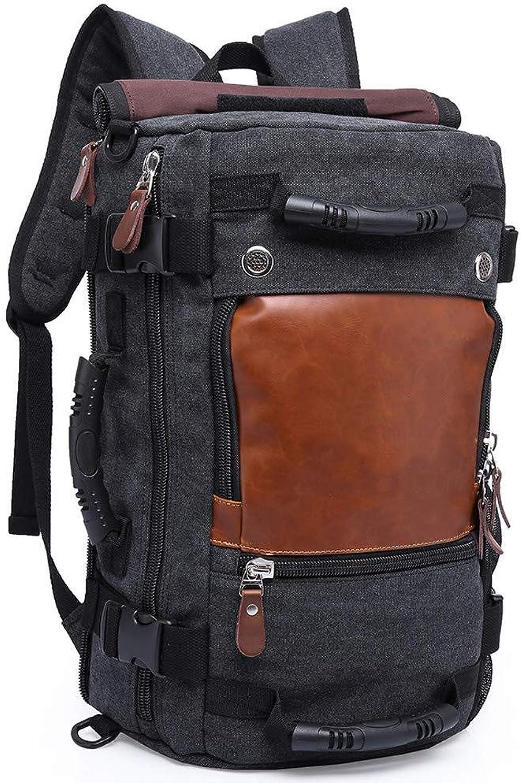 Canvas Rucksack Für 15.6 Zoll Laptop Schulrucksack Casual Backpack Reise Daypack Wanderrucksack Hiking Schultertasche Handtasche