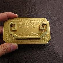 vintage rechthoek messing handvat vleermuis gesneden handvat tab lade kast sieraden doos decoratieve DIY meubels hardware,...