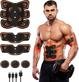 Muscle Toner Abs Stimulator, Portable Muscle Trainer,...