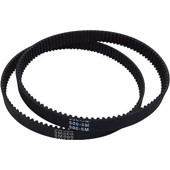 BEMONOC 2Pcs//Pack HTD 5M Rubber Timing Belts HTD600-5M-15 Closed-Loop 600mm Length 120 Teeth 15mm Width Industrial Timing Belt