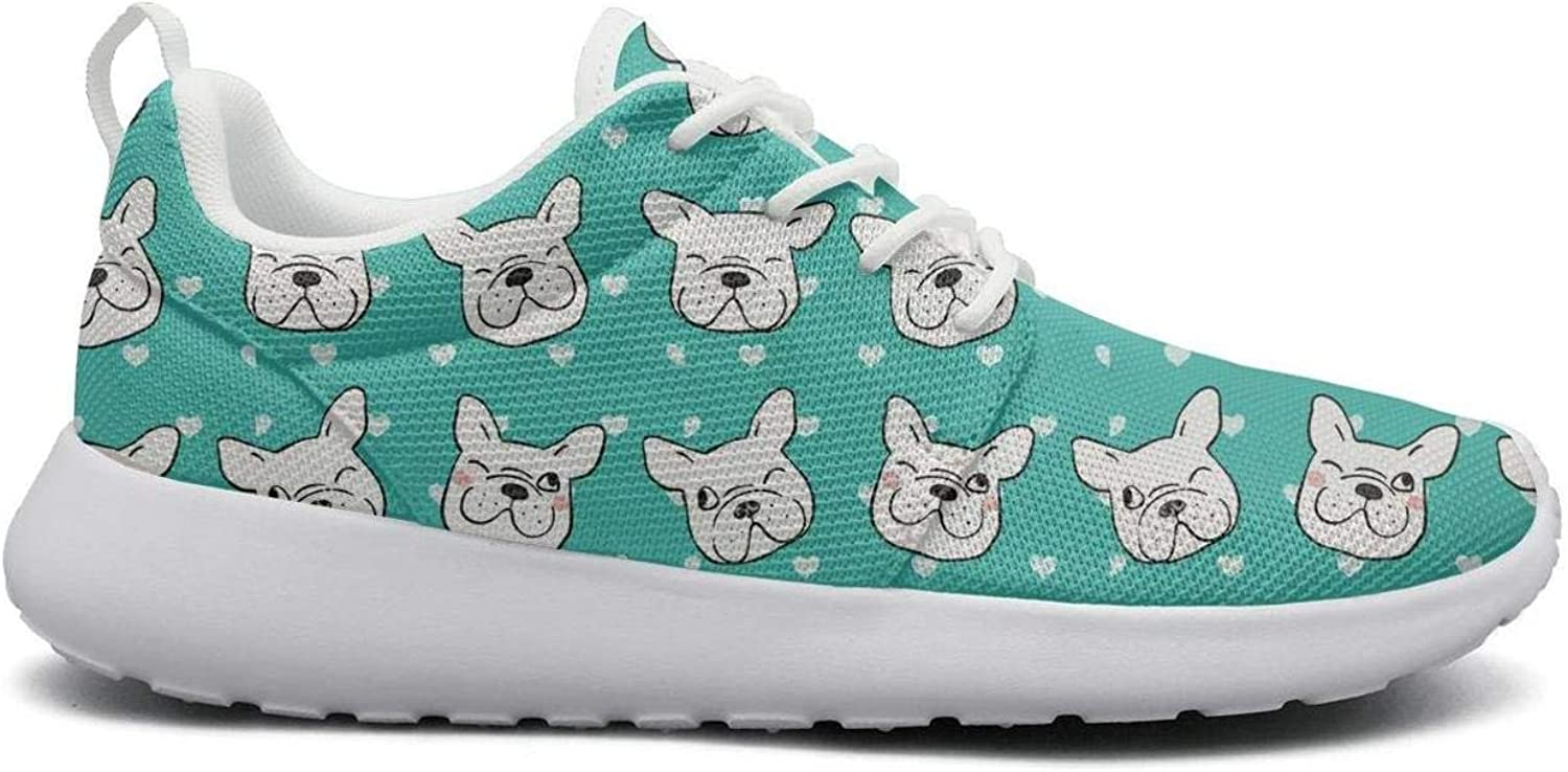 Ipdterty Wear-Resistant Outdoor Sneaker esign of Head Pug Dog Pretty Women Unique Running shoes