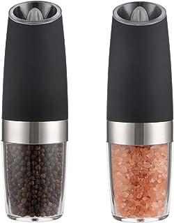 Salt Pepper Grinder Set Stainless Steel Glass Shaker Adjustable Mill Jocul @wt