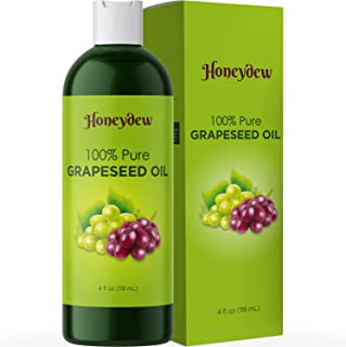 Pure Grape Seed Oil Liquid - Cold Pressed Grapeseed Oil for Face Care and Moisturizing Body Oil for Dry Skin Care - Natura...