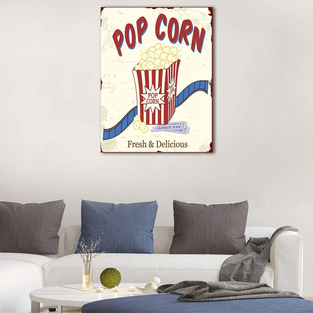 Amazing Movie Theater Wall Sticker Department Branded goods store Delicious Pop and Fresh Corn