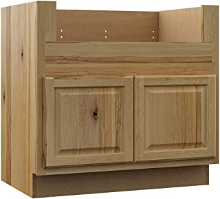 Hampton Bay Hampton Assembled 36x34.5x24 in. Farmhouse Apron-Front Sink Base Kitchen Cabinet in Natural Hickory