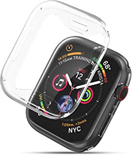 UGREEN 2 Pack Apple Watch Case Protective Apple Watch Series 4 Case TPU Ultra Thin iWatch 4 Full Cover Screen Protector