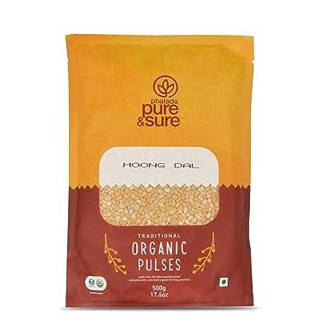 Pure & Sure Organic Moong Dal, 500g