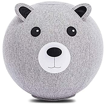 PINT SIZE PLANET Odin Balance Ball Chair for Kids 18 Inch  45cm  Exercise Ball Chair Flexible Seating Option for Homeschool or Classroom Yoga Ball Chair for Kids ADHD Chairs for Kids  Grey Bear