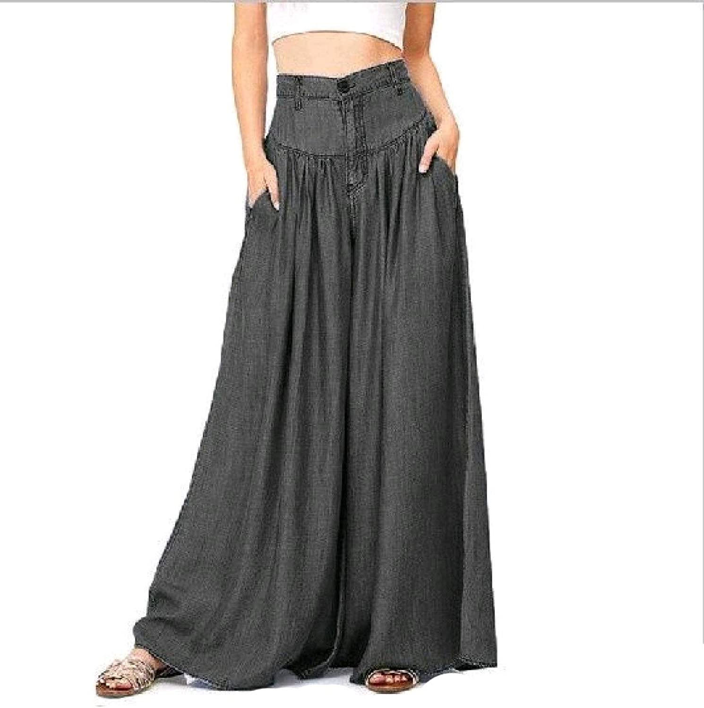 VITryst Women Flyaway Lounge Pure Colour Plus Size Pants Trousers