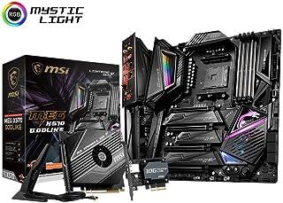 MSI MEG X570 GODLIKE Motherboard (AMD AM4, PCIe 4.0, DDR4, SATA 6Gb/s, Triple M.2, USB 3.2, AX Wi-Fi 6, 10G Super LAN, Ext...