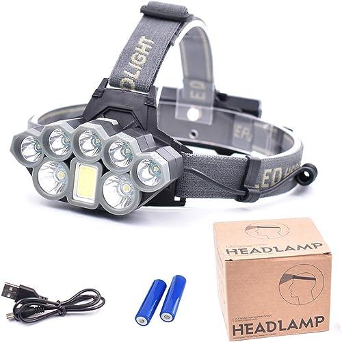 8 Perles de Lampe phares forts - phares de Mine de Chasse en Plein air LED de Chargement de pêche de Nuit pour Les Feux d'appats phares étanches