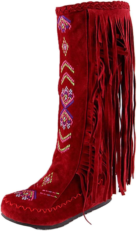 KemeKiss Women Classic Low Hidden Heel Boots Pull on