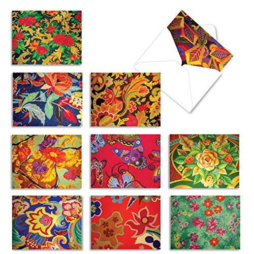 The Best Card Company - Box of 10 All Occasion Note Cards (4 x 5.12 Inch) - Blank Assorted Bulk Set - Vegas Carpets M3304