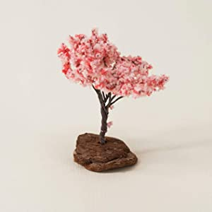 ICNBUYS Zen Garden Accessory - Mini Sakura Tree Height 2.76 inches 7 cm