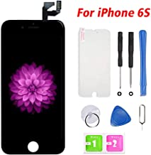 for iPhone 6s Screen Replacement Black, LCD Display & Touch Screen Digitizer Frame Assembly with Repair Tools
