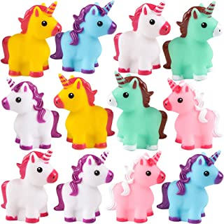 Colorful Rubber Unicorn (Pack of 12) 6 Vivid Colors for Goodie Bag Filler, and A Great Bath Toy
