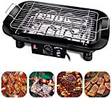 Portable Electric Barbecue Grill Smokeless BBQ Grilling Table Adjustable Temperature 2000W High Power