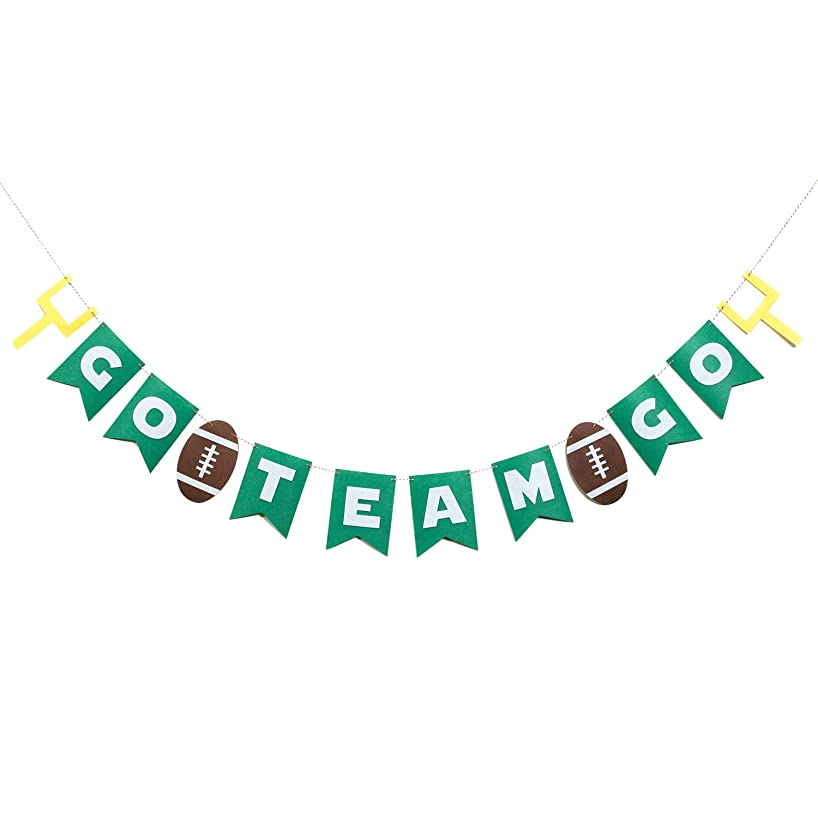 Football Theme Party Banner, Sports Party Decoration GO Team Sign for Super Bowl Night 2018 NFL Season Carnival