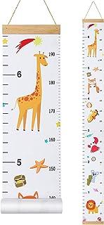 STOBOK Baby Growth Chart,Height Measurement Ruler for Kids Handing Canvas Wall Ruler Chart Decor for Nursery,Child,Boys,Gi...