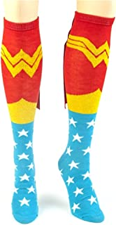 Comics Wonder Woman Knee High NON- Shiny Cape Socks