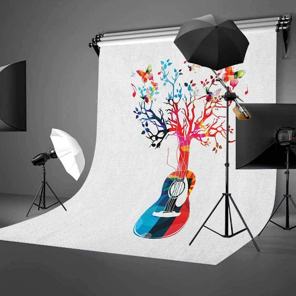 8x12 FT Bicycle Vinyl Photography Background Backdrops,Nostalgic Bicycle Summer Flowers in Basket Accompanied with Colorful Hummingbird Background Newborn Baby Portrait Photo Studio Photobooth Props