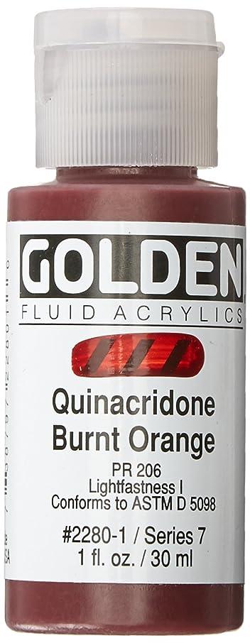 Golden Fluid Acrylic Paint 1 Ounce-Quinacridone Burnt Orange