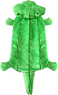 SMALLLEE_Lucky_Store Medium Dog Winter Crocodile Hooded Coat Costume for Female/Male