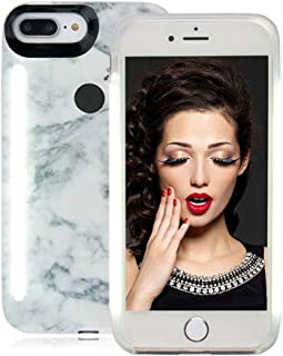 Vanjunn Selfie LED Light Case for iPhone 6 Plus iPhone 6s Plus 7 Plus 8 Plus, iPhone 6 Plus Selfie Led Case with Rechargeable Backup (Stone Black)