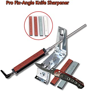 Afilador de cuchillos AchidistviQ, afilador de cuchillos de cocina de ángulo fijo de acero inoxidable profesional con piedras