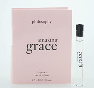 Philosophy Amazing Grace EDT Lot of 2 Samples .05 Oz/each with Card