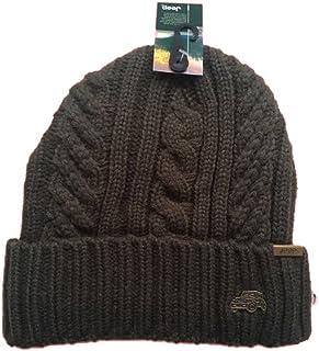 Jeep Winter Thick Twist Knit Winter Hat Fleece Inner Beanie Hat for Men and Women Slouchy Beanie