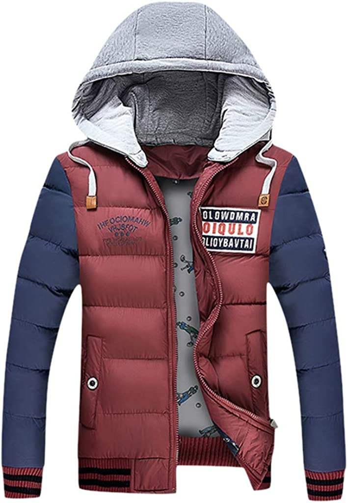 Down Jacket Men, NRUTUP Water-Resistant Puffer Jacket, Smart Full-Zip Hockey Down Alternative Winter Coat