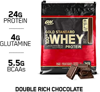 OPTIMUM NUTRITION GOLD STANDARD 100% Whey Protein Powder, Double Rich Chocolate, 10 Pound Bags