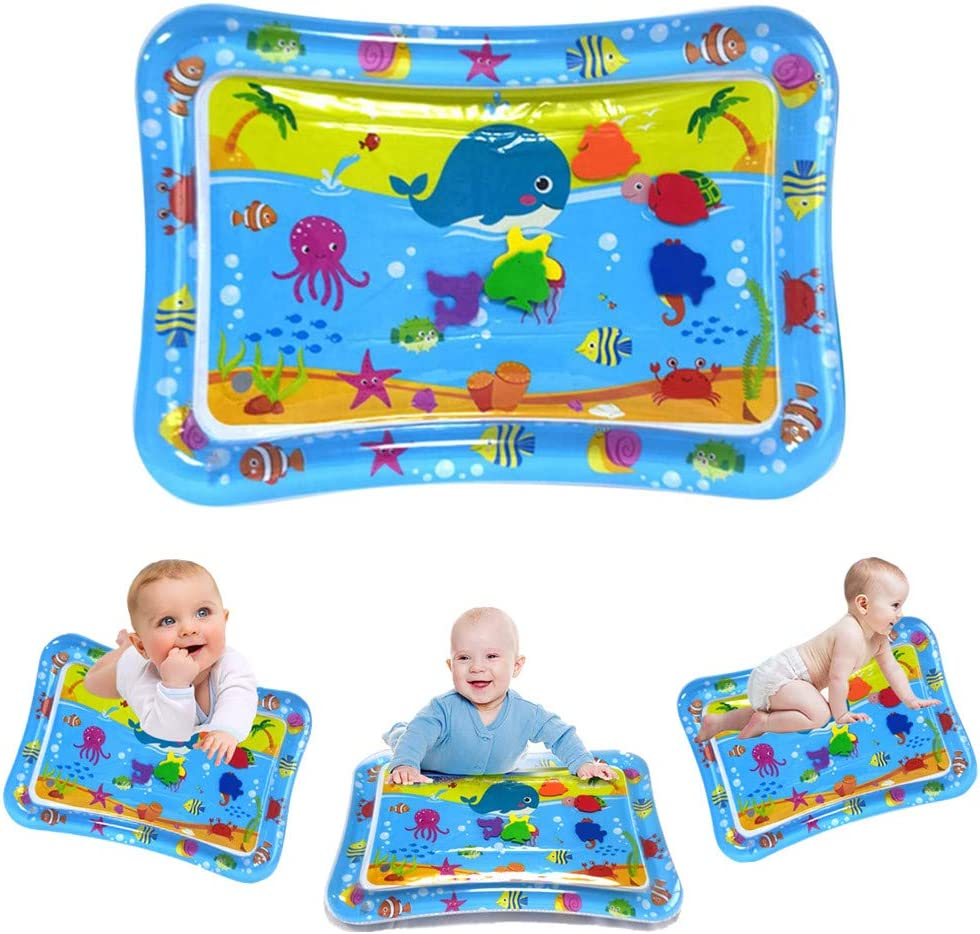 FLAIGO Tummy Time Baby Water Play Mat Toys for 3 6 9 Months Newborn Infant&Toddlers, Inflatable Toys Gifts for Boy Girl Infant Early Development Activity Centers
