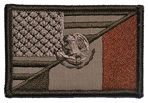 Mexican/USA Flag Patch 2x3 - Coyote