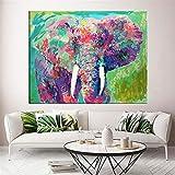 Graffiti Kunst Elefant Leinwand Poster an der Wand, für