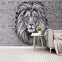 壁紙、モダン、白黒、ライオン、壁画、リビングルーム、子供、寝室、背景、壁、絵画、クリエイティブ、アート、壁画-400cm(W)x200cm(H)