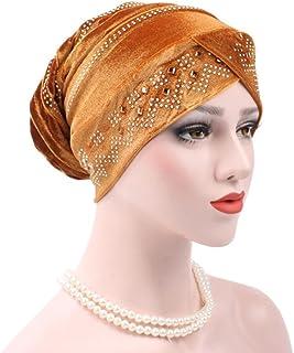 0915ecdef8f020 Qingfan Women Soft Warm Velvet Cancer Chemo Hat Beanie Turban Headband  Elegant Wrap Cap