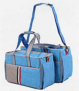 Stylish pet Backpack 2 Tone Quilted Soft Sided Travel Dog and Cat Pet Carrier Tote Hand Bag