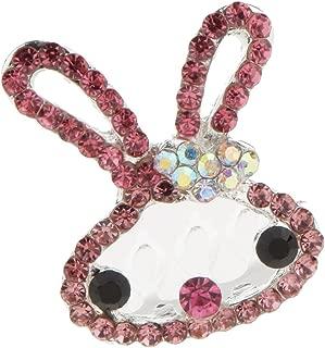 FITYLE Chic Crystal Diamante Rabbit Mini Crown Tiara Hair Comb Girl Birthday Party Gift - Pink, 4.4 x 3 x 3.5cm