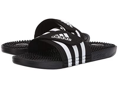 adidas adissage (Core Black/Footwear White/Core Black) Men