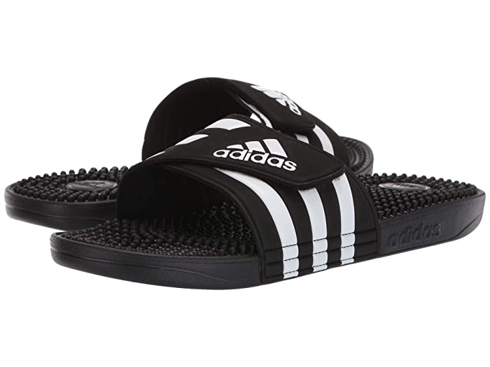 adidas  adissage (Core Black/Footwear White/Core Black) Mens Slide Shoes