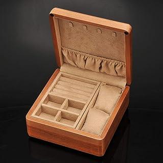 حالة المجوهرات الصغيرة، مربع المجوهرات المحمولة، منظم المجوهرات الخشبية، سوار القرط خشب قلادة، صندوق مجوهرات السفر، للنساء...
