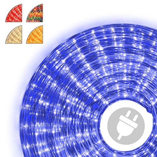 Nipach GmbH 10m Microlichter Lichterschlauch Lichtschlauch blau – Innen- und Außenbereich – Licht-Dekoration für Garten Fest Weihnachten Hochzeit Gesamtlänge ca. 11,50 m
